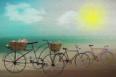 Digital Art - Great Day For A Bike Ride - Painting by Ericamaxine Price