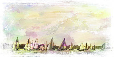 Great Day For Sailing 2 Art Print