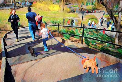 Photograph - Great Day In The Park - Central Park New York by Miriam Danar