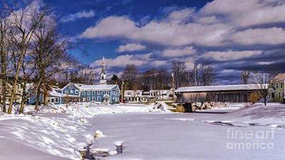 Photograph - Great Eddy Covered Bridge by Scenic Vermont Photography