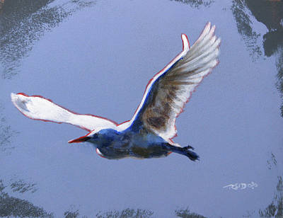 Birds Painting - Great Egret by Christopher Reid