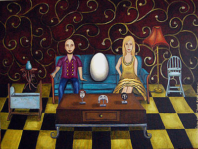 Highchair Painting - Great Expectations by Leah Saulnier The Painting Maniac