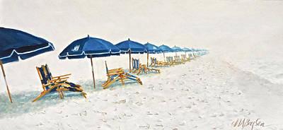 Portofino Beach Painting - Great Expectations by Maryann Boysen