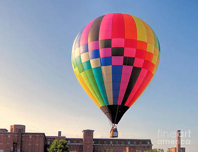 Photograph - Great Falls Balloon Festival In Maine by Janice Drew