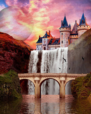 Painting - Great Falls Castle by Charlie Alolkoy