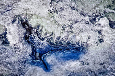 Photograph - Great Falls Ice Abstract by Stuart Litoff