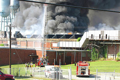 Photograph - Great Falls Mill Fire 2006 A by Joseph C Hinson Photography
