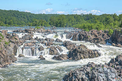 Photograph - Great Falls Of The Potomac River Main Falls Ds0091 by Gerry Gantt
