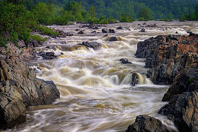 Whitewater Photograph - Great Falls Of The Potomac River by Rick Berk