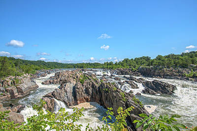 Photograph - Great Falls Of The Potomac River South Falls And Main Falls Ds0099 by Gerry Gantt