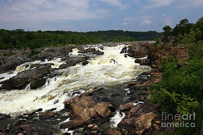 Great Falls Park Photograph - Great Falls On The Potomac River Maryland by James Brunker
