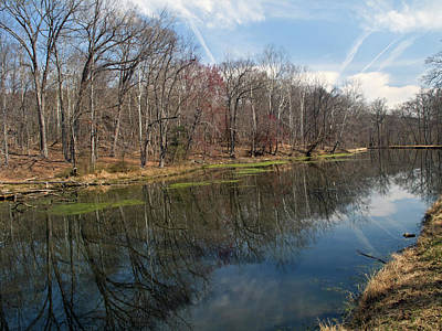 Great Falls Park Along The Towpath - Maryland - C And O Canal Print by Brendan Reals