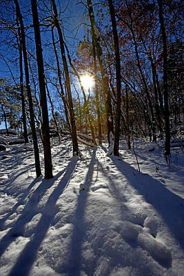Great Falls Park Virginia After A Winter Blast Art Print by Brendan Reals