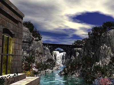 Digital Art - Great Falls - Passaic River by John Pangia