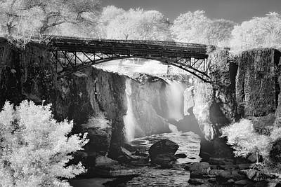 Photograph - Great Falls Paterson Nj Bw by Susan Candelario