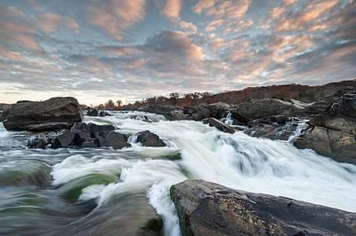 Great Falls Sunrise Over The Potomac River Art Print