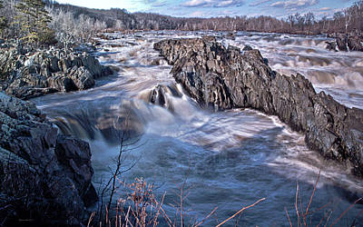 Art Print featuring the photograph Great Falls Virginia by Suzanne Stout