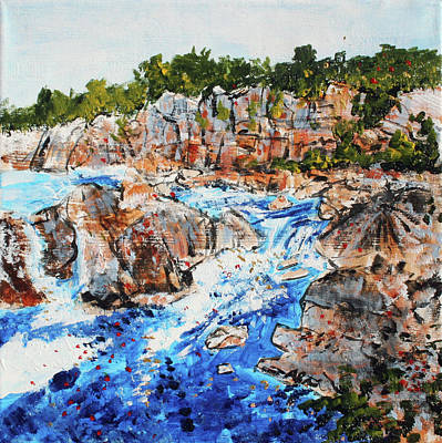 Great Falls Waterfall 201745 Art Print by Alyse Radenovic