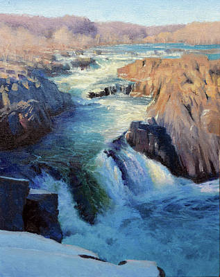 Painting - Great Falls Winter by Armand Cabrera