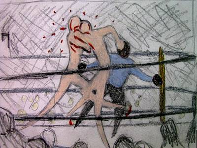 Mixed Martial Arts Drawing - Great Fight 1 by Michael Schneider