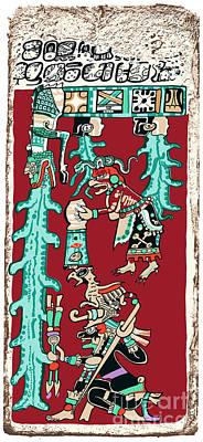 Dresden Codex Digital Art - Great Flood Maya Prophecy by Peter Hermes Furian