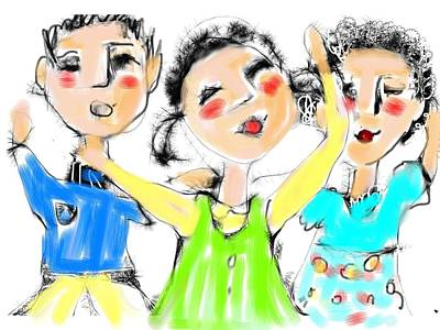 Digital Art - Great Friends by Elaine Lanoue