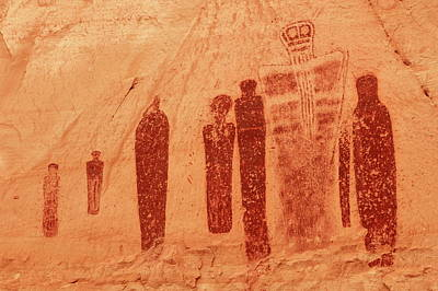 Photograph - Great Ghost Petroglyph Panel by Roupen  Baker