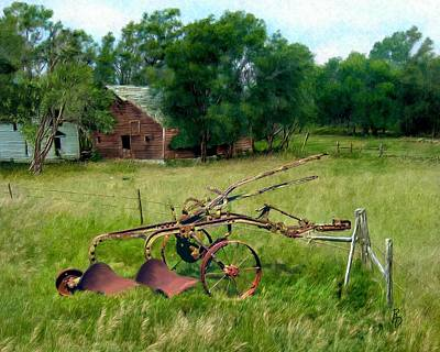 Digital Art - Great Grandpa's Plow by Ric Darrell