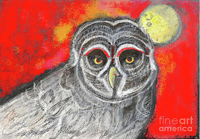Painting - Great Grey Owl by Lydia L Kramer