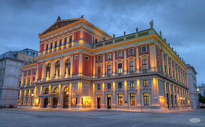 Photograph - Great Hall Of Wiener Musikverein, Vienna, Austria, Hdr by Elenarts - Elena Duvernay photo