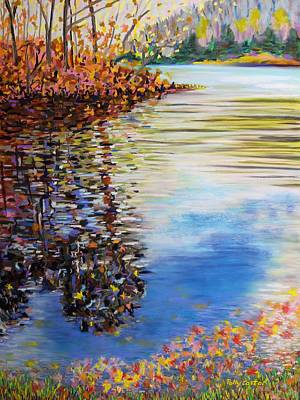 Painting - Great Hollow Lake In November by Polly Castor