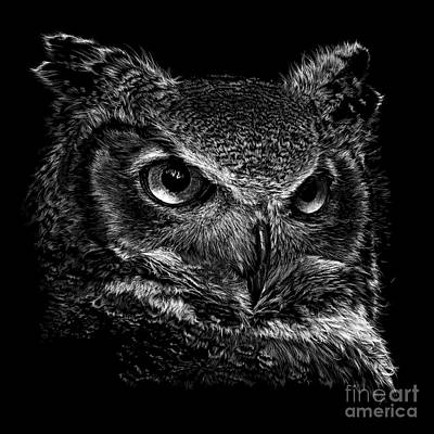Great Horned Owl Original by Laurie Musser