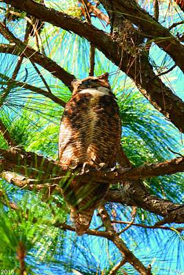 Photograph - Great Horned Owl by Lisa Wooten