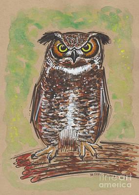 Great Horned Owl Original