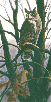 Painting - Great Horned Owl by Shari Erickson