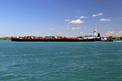 Photograph - Great Lakes And Michigan Tug by Mary Bedy