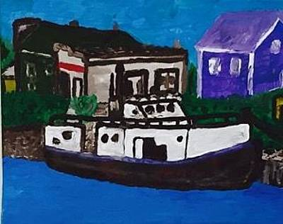 Painting - Great Lakes Commercial Fish Tugs by Jonathon Hansen