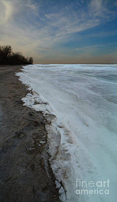 Photograph - Great Lakes Frozen by Charles Owens