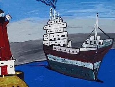 Great Lakes Shipping Industry Original by Jonathon Hansen