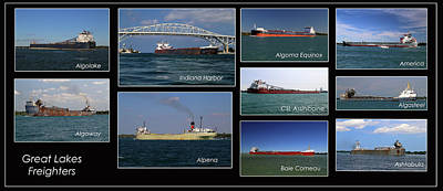 Photograph - Great Lakes Ships 1 H by Mary Bedy