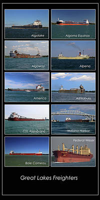 Photograph - Great Lakes Ships 1 V by Mary Bedy