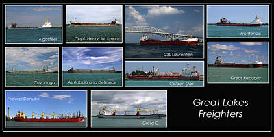Photograph - Great Lakes Ships 2 H by Mary Bedy