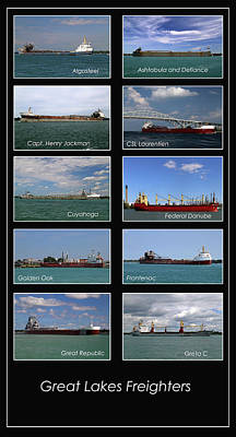 Photograph - Great Lakes Ships 2 V by Mary Bedy