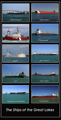 Photograph - Great Lakes Ships 3 V by Mary Bedy