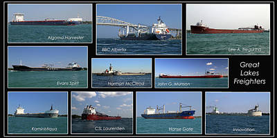 Photograph - Great Lakes Ships 4 H by Mary Bedy