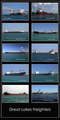 Photograph - Great Lakes Ships 4 V by Mary Bedy