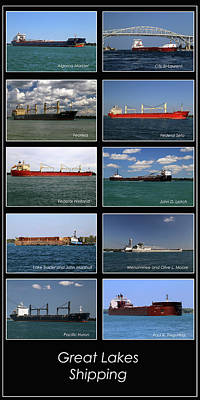 Photograph - Great Lakes Ships 5 V by Mary Bedy