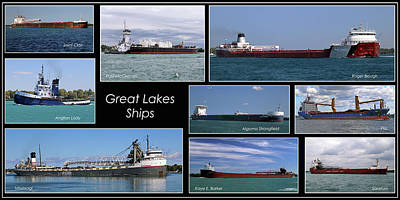 Photograph - Great Lakes Ships 6 H by Mary Bedy