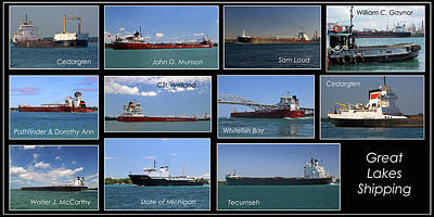 Photograph - Great Lakes Ships 7 H by Mary Bedy