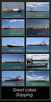 Photograph - Great Lakes Ships 7 V by Mary Bedy